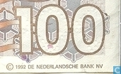 Banknotes - Computer ontwerp - 100 guilder Netherlands 1992