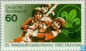 Postzegels - Duitsland, Bondsrepubliek [DEU] - Scouting wereldconferentie - München