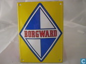 Emaille borden - Logo : Borgward - Emaille Reklamebord : Borgward