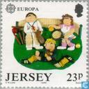 Briefmarken - Jersey - Europa – Kinderspiele