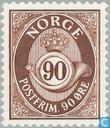 Postzegels - Noorwegen - Posthoorn