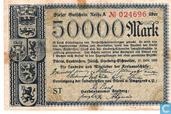 Billets de banque - Düren,Euskirchen,Jülich,Stolberg-Eschweiler. - Mark Düren 50.000