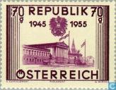 Postage Stamps - Austria [AUT] - Restoration of independence 10 years