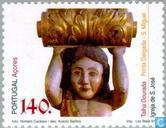 Postzegels - Azoren - Religieuze kunst