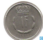 Monnaies - Luxembourg - Luxembourg 1 franc 1981