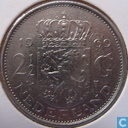 """Netherlands 2½ gulden 1969 (rooster) """"v2k2"""""""