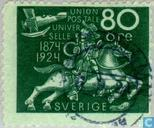 Postage Stamps - Sweden [SWE] - 50 years of UPU