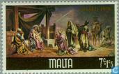 Postzegels - Malta - Bijbelse voorstellingen