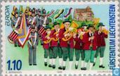Postzegels - Liechtenstein - Europa – Feesten en nationale festivals