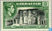 Briefmarken - Gibraltar - George VI, Landschaften