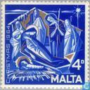 Postzegels - Malta - Aanbidding Christus