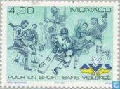 Postage Stamps - Monaco - Association against violence in sport