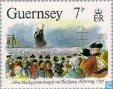 Timbres-poste - Guernesey - John Wesley,
