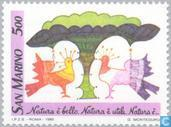 Postage Stamps - San Marino - Drawings