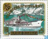 Postzegels - Oostenrijk [AUT] - Scheepvaart Traunmeer 150 jaar