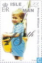 Timbres-poste - Man - Prince William-18e anniversaire