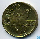 Munten - Tsjechië - Tsjechië 20 korun 1998