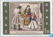 Postzegels - Griekenland - Opstandsbeweging 1815-1965