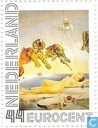 Postage Stamps - Netherlands [NLD] - Dream of a Virgin - S. Dali