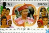 Postage Stamps - Man - Europe – Famous women