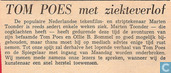 Strips - Bommel en Tom Poes - TOM POES met ziekteverlof