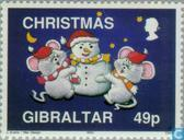 Timbres-poste - Gibraltar - Noël