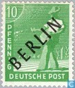 Timbres-poste - Berlin - impression en noir
