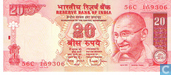 Billets de banque - Reserve Bank of India - Roupies de l'Inde 20 2006 (A)