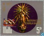 Postzegels - Malta - Hl. Joseph beschermheilige kerk 100 jaar