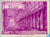 Postzegels - Vaticaanstad - Basilieken - Paus Pius XII