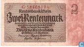Billets de banque - Rentenmark - Allemagne Mark 2 Intérêts