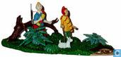 Tintin,Zorrino et Milou dans la jungle