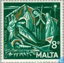 Postage Stamps - Malta - Worship Christ