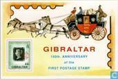 Briefmarken - Gibraltar - 150 Jahre Jubiläum Stempel