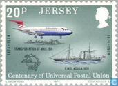 Timbres-poste - Jersey - UPU 100 années