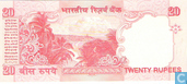 Banknoten  - Reserve Bank of India - Indien 20 Rupien 2006 (A)