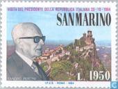 Postage Stamps - San Marino - Visit Pertini