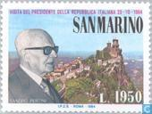 Timbres-poste - Saint-Marin - Visitez Pertini