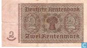 Banknotes - Rentenmark - Germany 2 Mark Interest