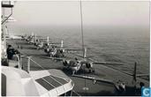 Flightline van Grumman S-2A Trackers op vliegdekschip Karel Doorman