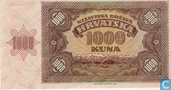 Billets de banque - Croatie - 1941 Issue - Croatie 1.000 Kuna 1941