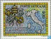 Postage Stamps - Vatican City - New concordat with Italy