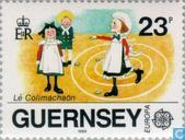 Postage Stamps - Guernsey - Europe – Children's games