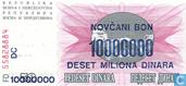 Billets de banque - Narodna Banka Bosne i Hercegovina - Bosnie-Herzégovine 10 millions Dinara