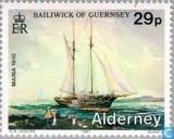 Postzegels - Alderney - Scheepswrakken