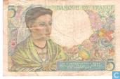 Banknotes - Banque de France - France 5 Francs