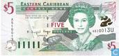 Caraïbes orientales 5 Dollars