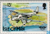 Postage Stamps - Man - Air Connection 1934-1984