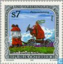 """Briefmarken - Österreich [AUT] - Volkskunde: """"Palmeselumzug"""""""
