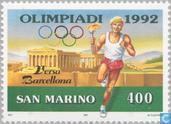 Timbres-poste - Saint-Marin - Jeux olympiques de Barcelone-